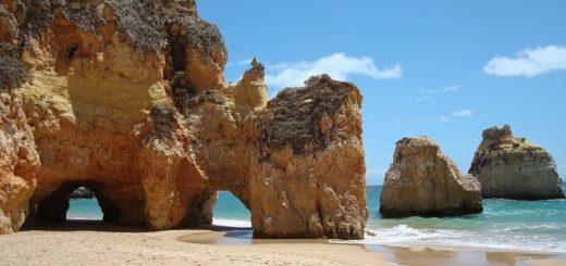 portugalska plaża w Algarve
