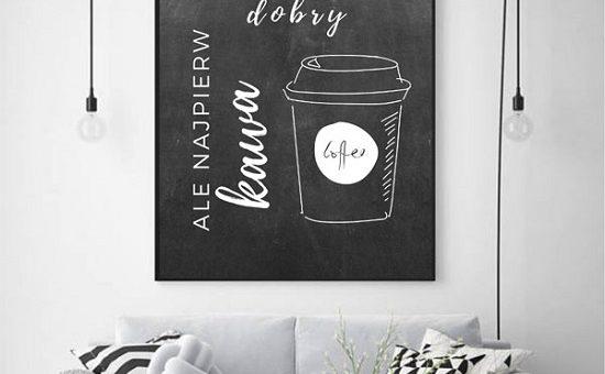 plakat motywacyjny kawa